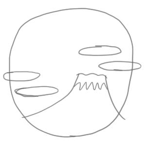 富士山 イラスト 簡単5