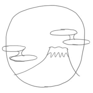富士山 イラスト 簡単6