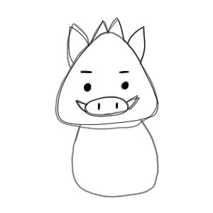 猪 イラスト 簡単11