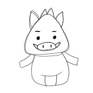 猪 イラスト 簡単14