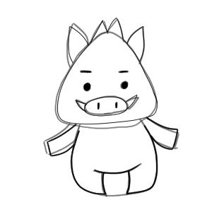 猪 イラスト 簡単15