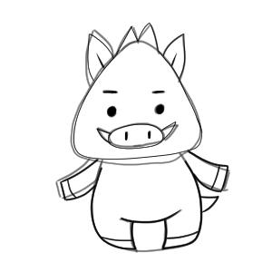 猪 イラスト 簡単16
