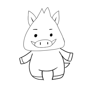 猪 イラスト 簡単17