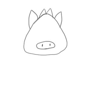 猪 イラスト 簡単5