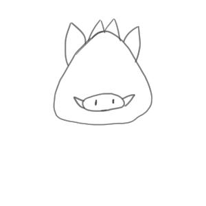 猪 イラスト 簡単6