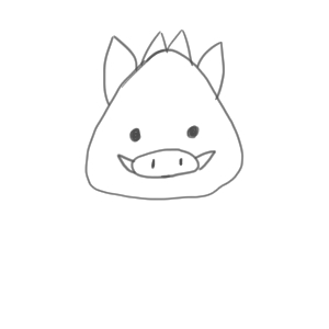 猪 イラスト 簡単7