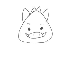 猪 イラスト 簡単8