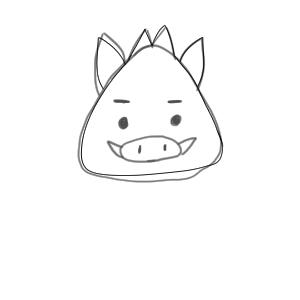猪 イラスト 簡単9
