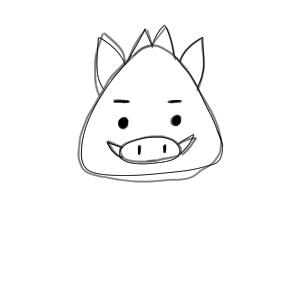 猪 イラスト 簡単10
