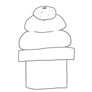 鏡餅 イラスト 簡単4