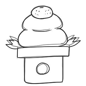 鏡餅 イラスト 簡単6