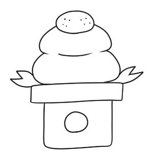 鏡餅 イラスト 簡単7