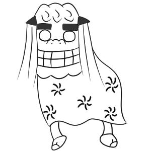 獅子舞 イラスト 書き方12