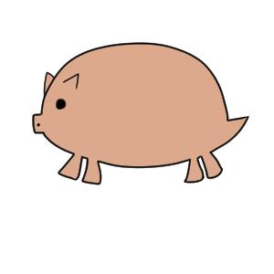 猪 イラスト かわいい10
