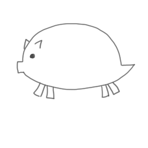 猪 イラスト かわいい5