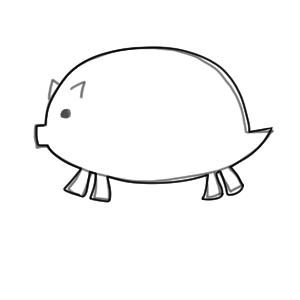 猪 イラスト かわいい7