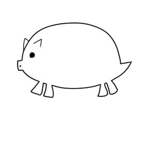 猪 イラスト かわいい9