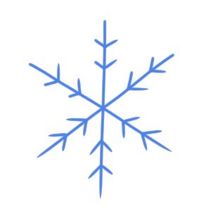 雪のイラストの簡単な書き方とは?