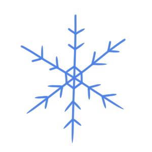 雪 イラスト 簡単5