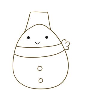 雪だるま イラスト 書き方6