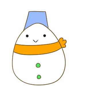 雪だるま イラスト 書き方