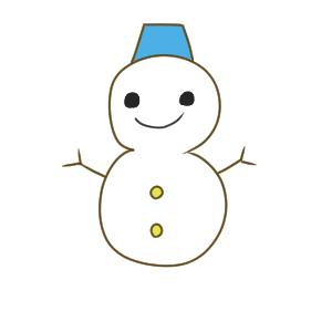 雪だるま イラスト かわいい