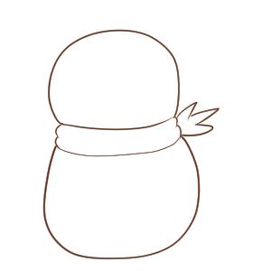 雪だるま イラスト 簡単2