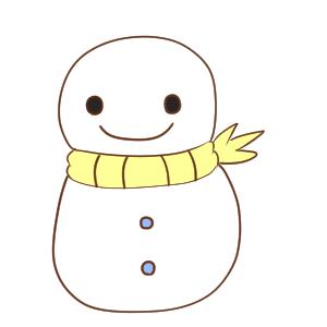 雪だるま イラスト 簡単