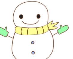 雪だるま イラスト 簡単7