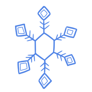 雪 イラスト 書き方