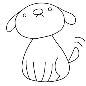 犬 イラスト 簡単