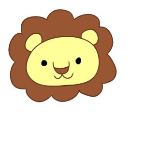 ライオン イラスト 簡単