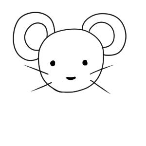 ネズミ イラスト 簡単