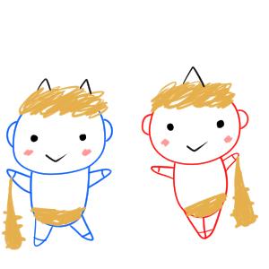 鬼 イラスト 簡単4
