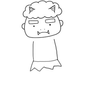 鬼 イラスト 書き方15