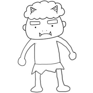 鬼 イラスト 書き方16