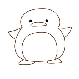 ペンギン イラスト 簡単