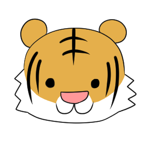 虎 イラスト 簡単