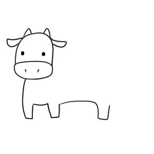 牛 書き方
