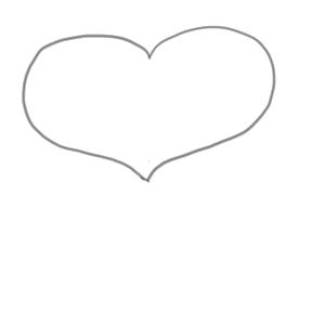 バレンタイン イラスト 簡単1