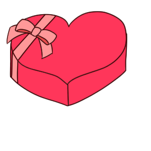 バレンタイン イラスト 簡単