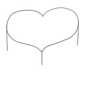 バレンタイン イラスト 簡単2