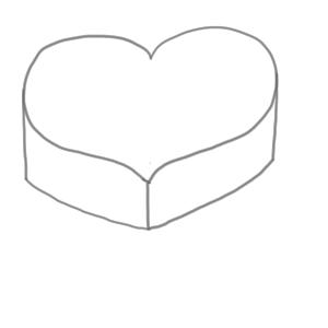 バレンタイン イラスト 簡単3