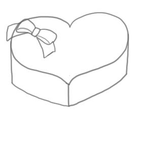 バレンタイン イラスト 簡単7