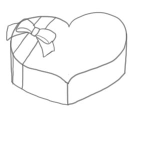 バレンタイン イラスト 簡単8