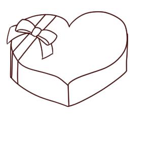 バレンタイン イラスト 簡単10