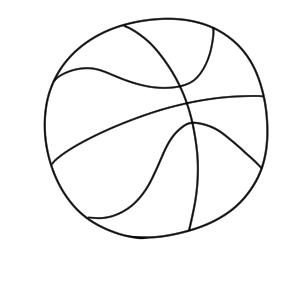 バスケットボール イラスト 簡単