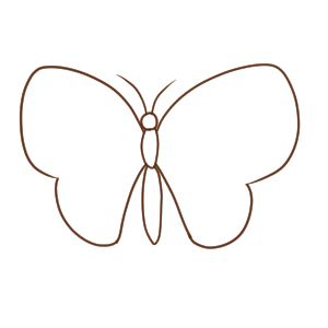 蝶 書き方