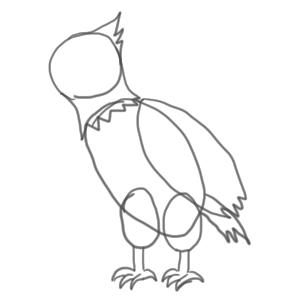 鷹 イラスト 簡単