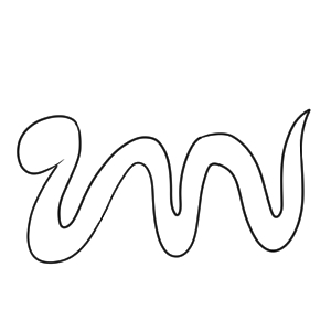 蛇 書き方